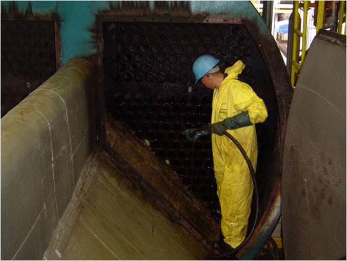 Limpeza Mecanica Dos Tubos Lado Fogo Antes E Depois