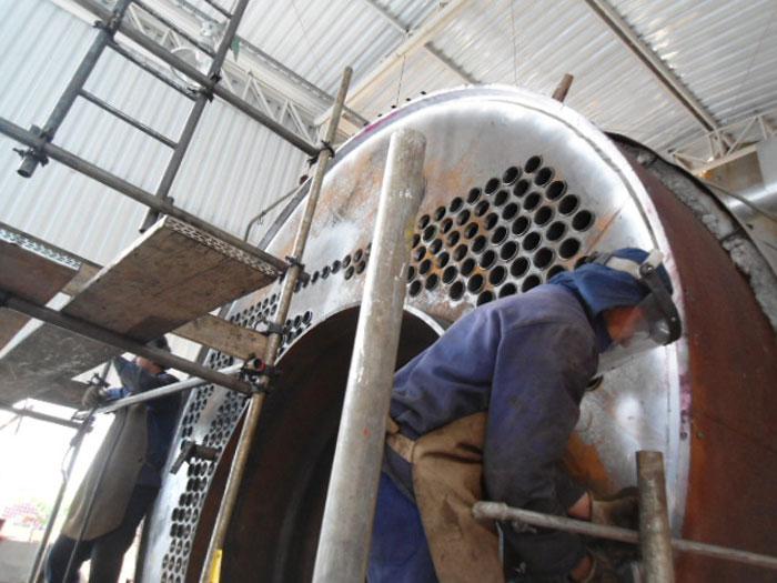 Substituicao De Tubos  Fornalha E Espelhos Caldeira Capacidade 20 Th